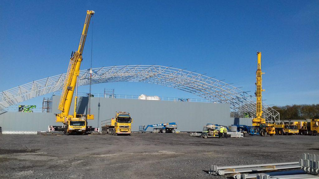 tensile building steel frame