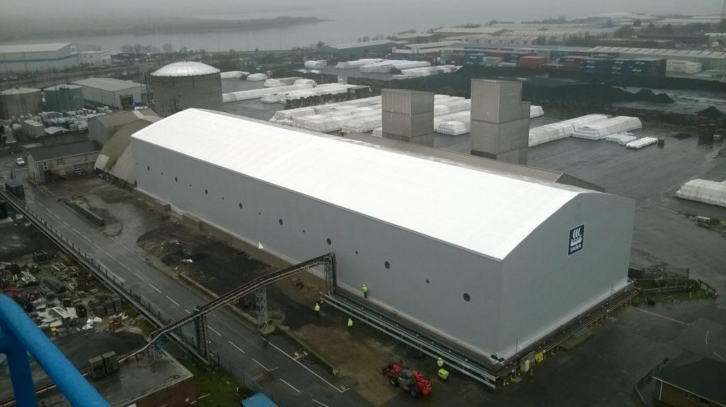 tensile fabric port building
