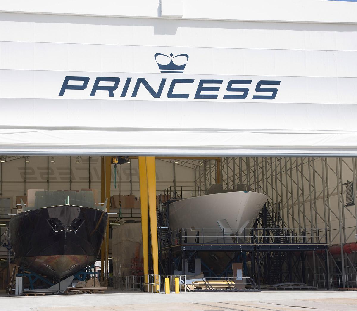 Princess Yachts manufacturing facility
